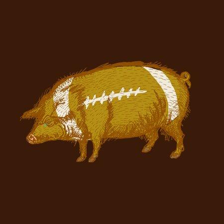 Pig Skin Football - NeatoShop