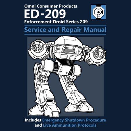 Ed-209 Service And Repair Manual T-Shirt
