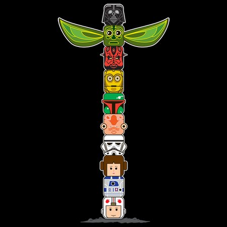 Totem In A Galaxy Far Far Away T-Shirt