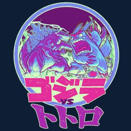 King Kaiju Vs Forest Spirit T-Shirt