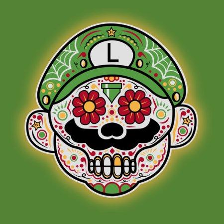 Dia De Los Marios (Luigi) T-Shirt thumbnail