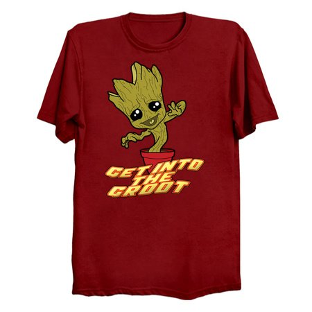 Get into the GROOT! Dancing Groot T-Shirts