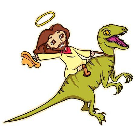 f6dd4e0d Jesus on Dinosaur - NeatoShop