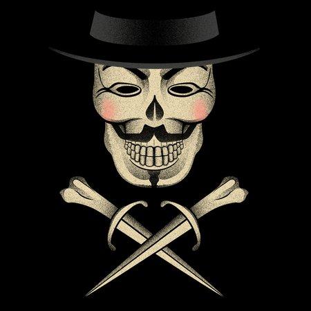 Skull & Fawkes Bones T-Shirt
