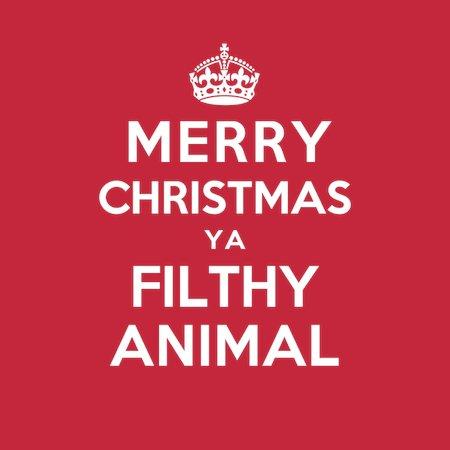 merry christmas ya filthy animal t