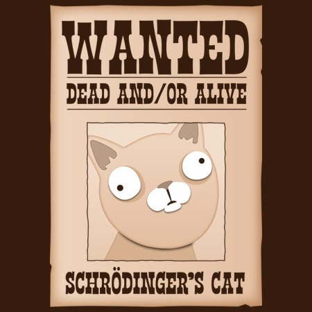 84cee4b6a Schrodinger's Cat: Wanted Dead And/Or Alive - NeatoShop