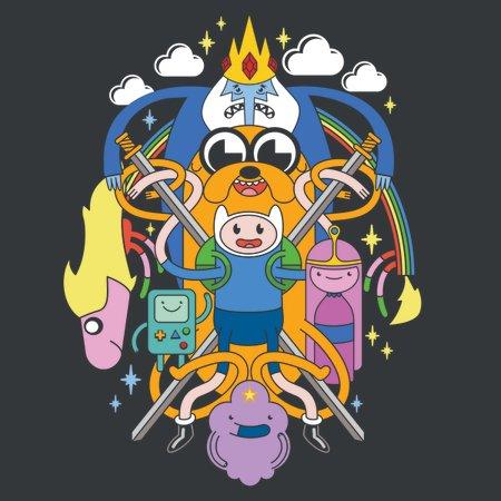 Colorful Cartoons Multi Character T-Shirt