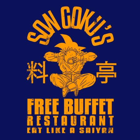 Saiyans Free Buffet Restaurant T-Shirt