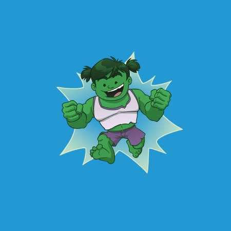Kid Hulk Girl Neatoshop