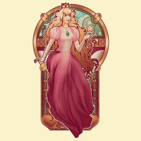 Princess Toadstool Nouveau T-Shirt thumbnail