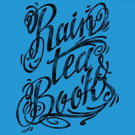 Rain, Tea & Books Black Ink T-Shirt