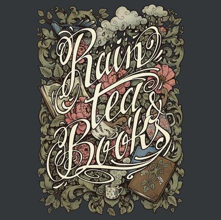 Rain, Tea & Books – Color Version T-Shirt