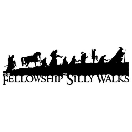 The Fellowship Of Silly Walks V.2 T-Shirt