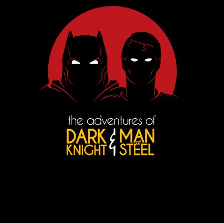 The Adventures Of Dark Knight And Man Of Steel T-Shirt
