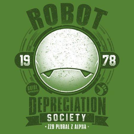 Robot Depreciation Society – Marvin The Paranoid Android T-Shirt