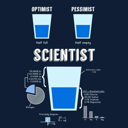 Optimist, pessimist, SCIENTIST! T-Shirt