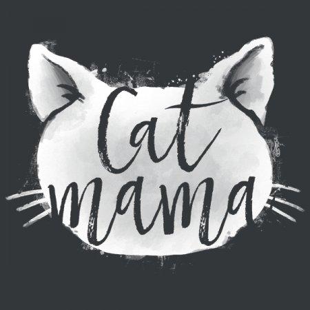 Cat Mama Lettering Iv T-Shirt