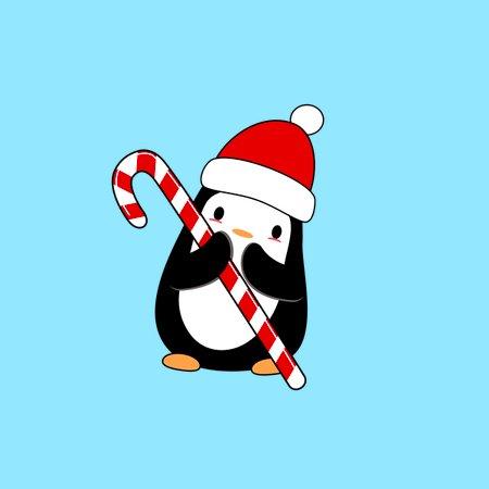 Kawaii Christmas.Kawaii Christmas Penguin