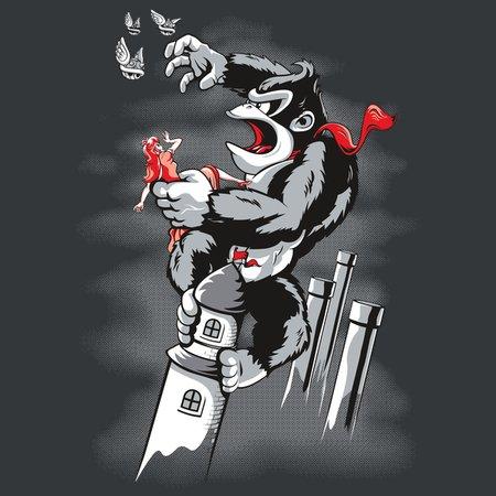 Kong Vs Mushroom Kingdom T-Shirt thumbnail