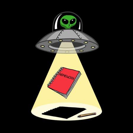 Aliens Stole My Homework T-Shirt