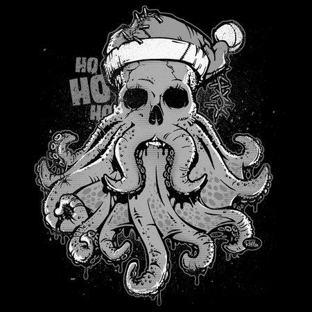 Merry Cthulmas - A Cthulhu Christmas (X-Mas) T-Shirt thumbnail