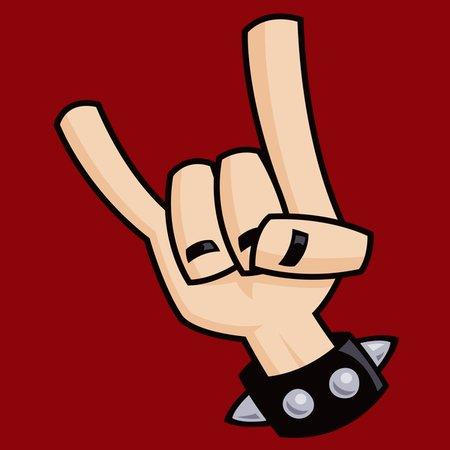 Heavy Metal Devil Horns Hand Sign Neatoshop
