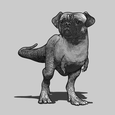Pugussaurus Rex. T-Shirt