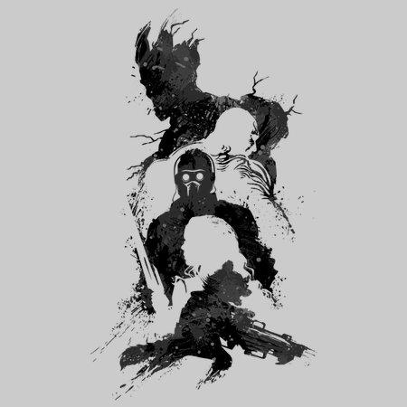 Abstract Guardians (black Print) T-Shirt