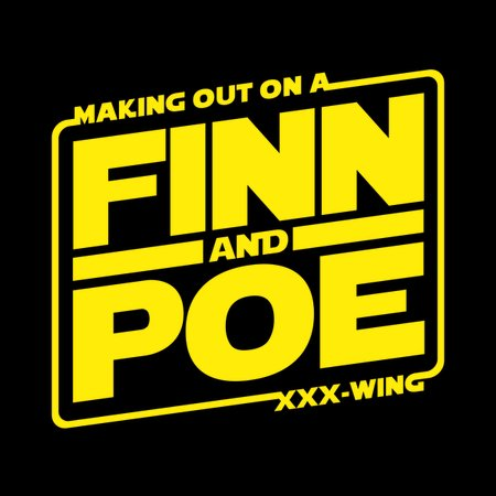 Finn And Poe Making Out On A Triple X-Wing T-Shirt