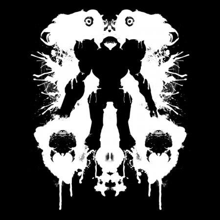 Inverse Space Pirate Hunter Ink Blot T-Shirt