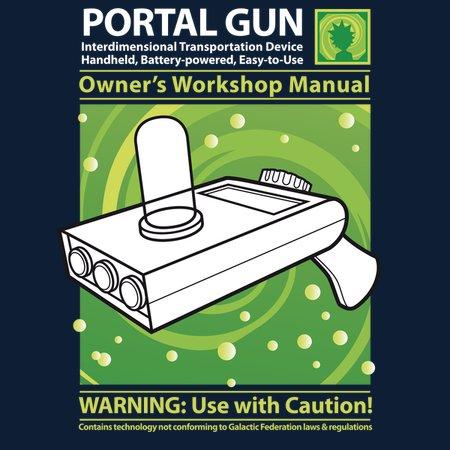 Portal Gun Manual For Your Morty (he'll Need It) T-Shirt