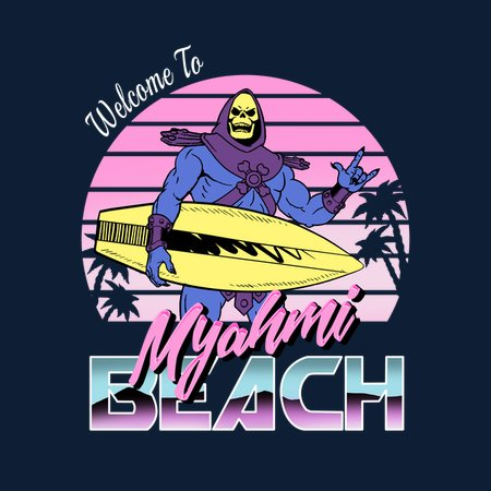 Myah'mi Beach (Version 2) T-Shirt