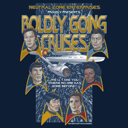 Boldly Going Travel Agency T-Shirt