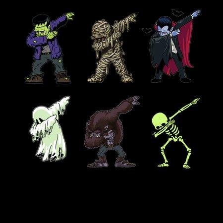 Dabbing Halloween Creatures Skeleton Zombie Dab Neatoshop