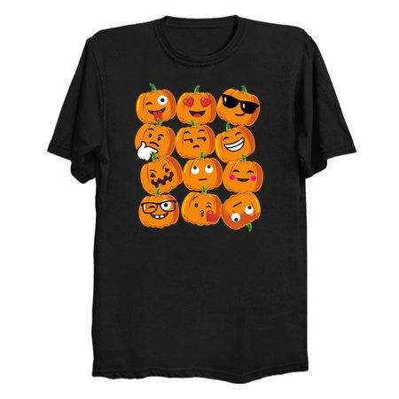 Pumpkin Emoji Faces T Shirt Emoji Halloween Costume