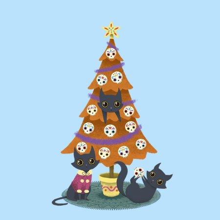 Meowy Christmas.Meowy Christmas Sugar Skulls