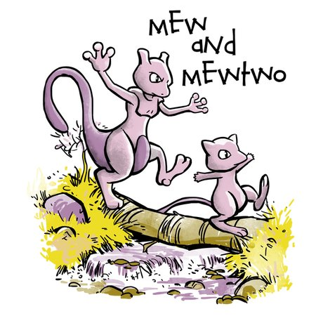 mew and mewtwo neatoshop