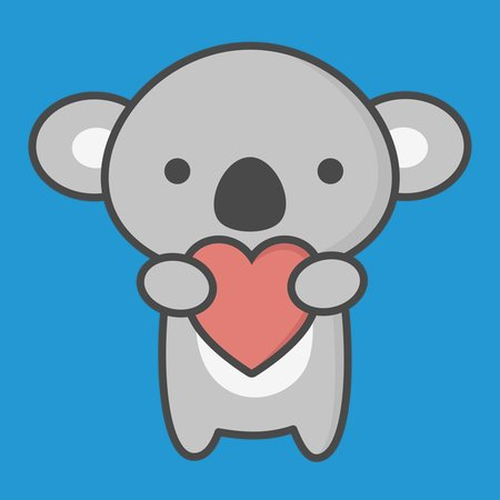 Absolutely Cute Koala With Heart Neatoshop