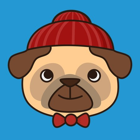 ea4808759eb Winter Beanie Pug Is Kawaii And Cute - NeatoShop