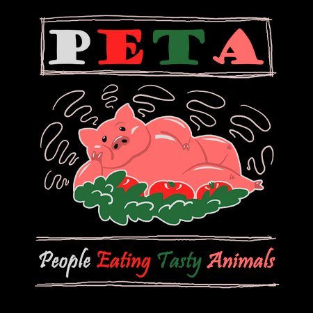 people eating tasty animals S-22 P.E.T.A