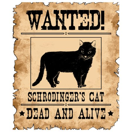 37129b97a WANTED Schrodinger's Cat Dead And Alive - NeatoShop