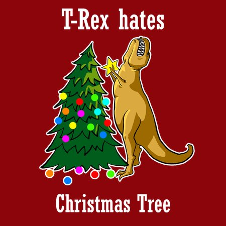 T Rex Christmas.T Rex Hates Christmas Tree