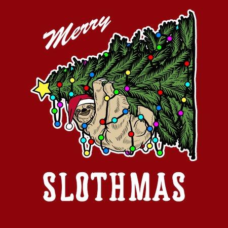 Christmas Sloth.Merry Slothmas Christmas Sloth Shirt