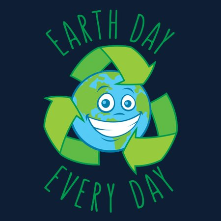 Earth Day Every Day Recycle Cartoon - NeatoShop