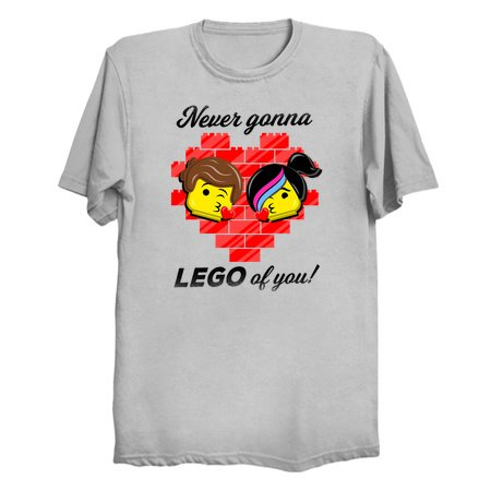 Never Gonna LEGO of You! - Lego T-Shirts