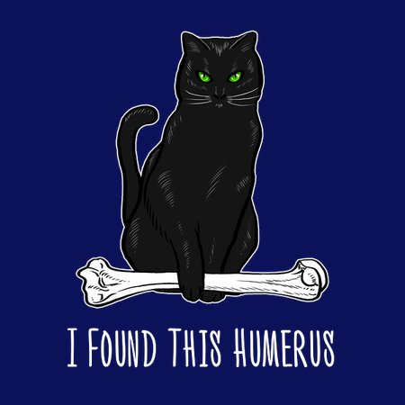 dce49f3e I Found This Humerus Shirt Cat Lover Kitten Bone Humorous - NeatoShop