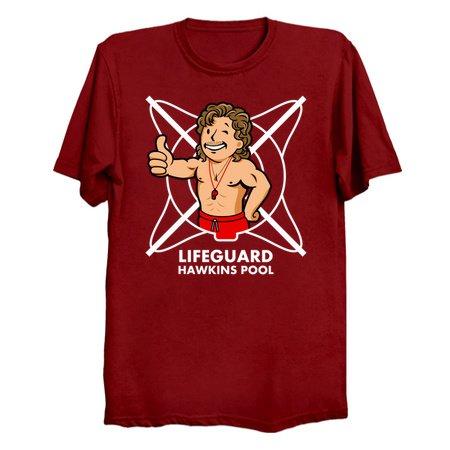 Vault Lifeguard - Stranger Things 3 T-Shirts
