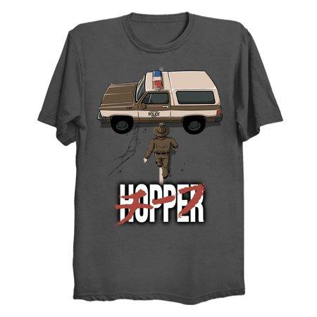 CHIEF HOPPER - Stranger Things T-Shirts