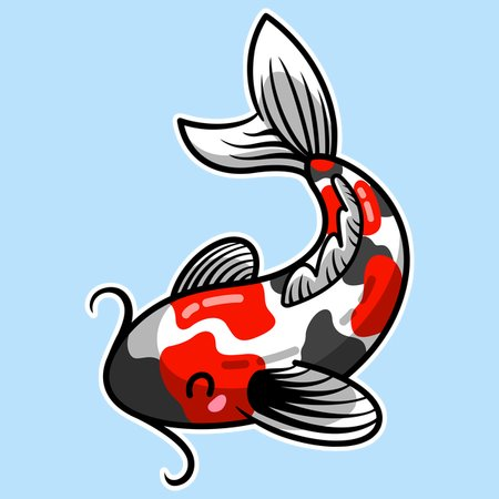 Kawaii Cute Japanese Koi Carp Fish Neatoshop